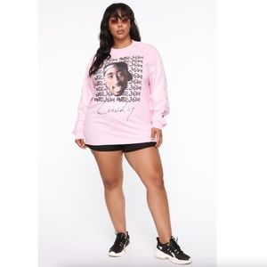 Forever21 Tupac Poetic Justice Long Sleeve Shirt